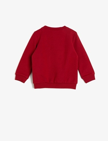Koton Kids Yazili Baskili Sweatshirt Bordo